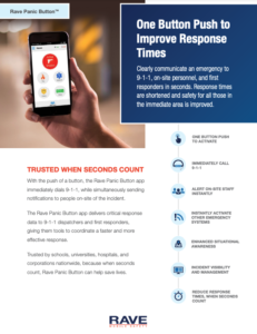 Rave Panic Button incidence response app resource preview