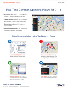 rave command view for 911 resource preview