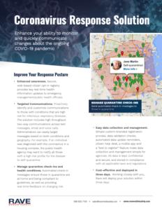 rave coronavirus response solutions resource preview
