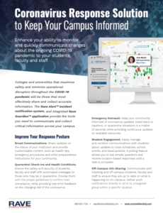 rave coronavirus solutions higher education resource preview