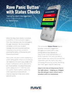 rave panic button status checks resource preview